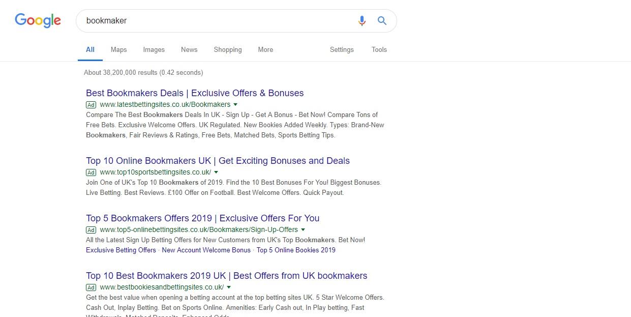 Google Bookmaker