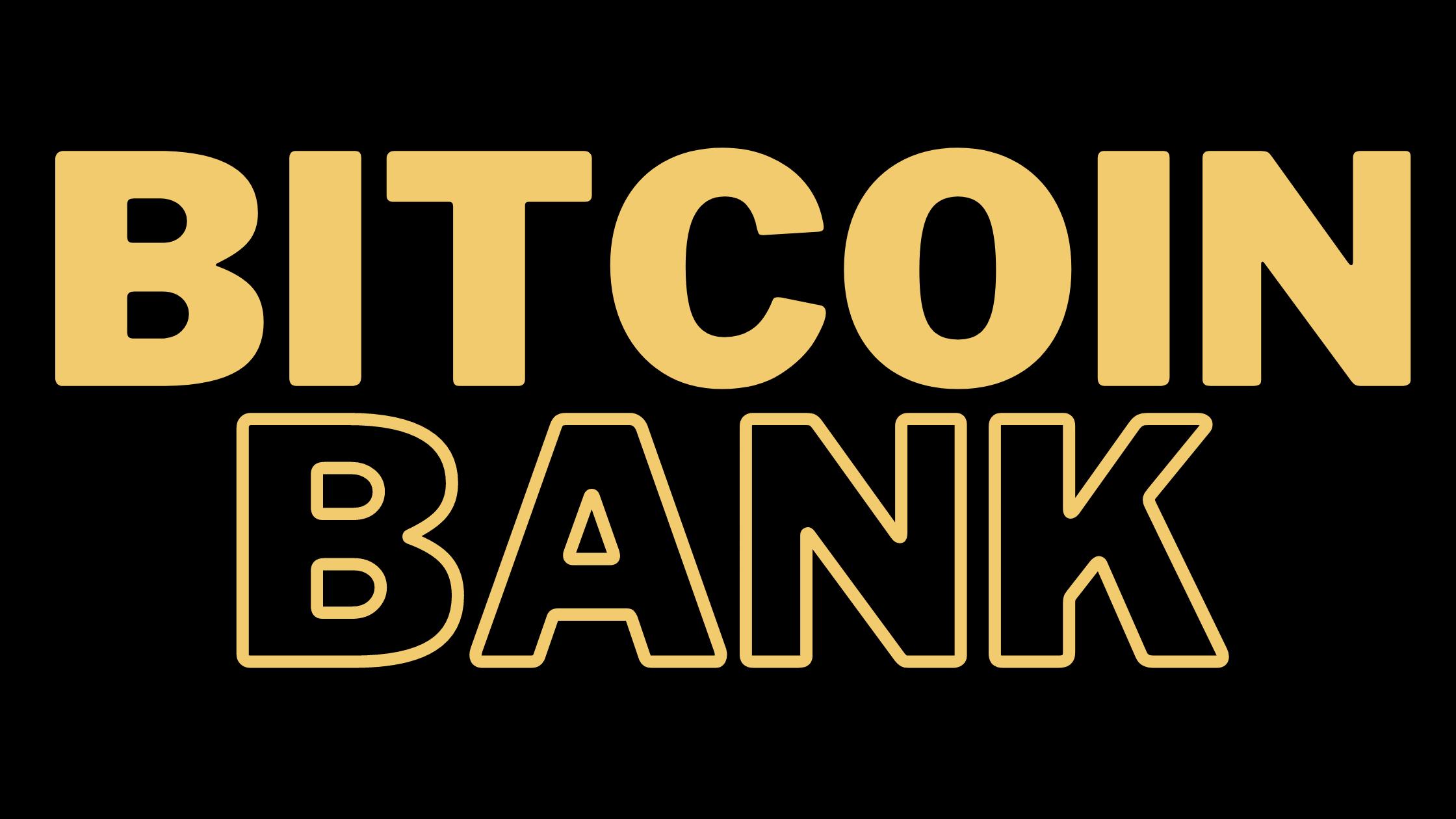 Bitcoin Bank Gold Logo